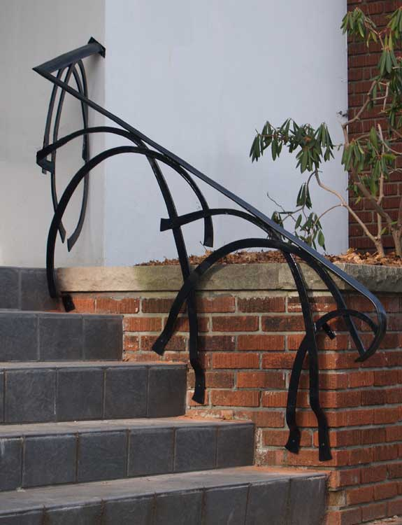 Architectural forgings past work by artisan blacksmith for Architectural railings